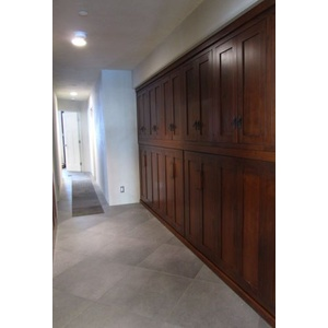 Custom Side Mount Murphy Beds with Bed Top Cabinets