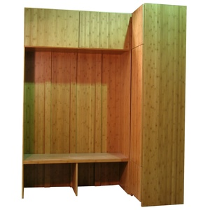 Custom cabinets and bench in Bamboo wood