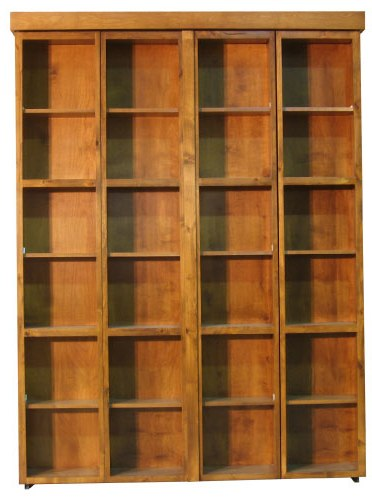 Bi Fold Bookcase Wallbed Closed