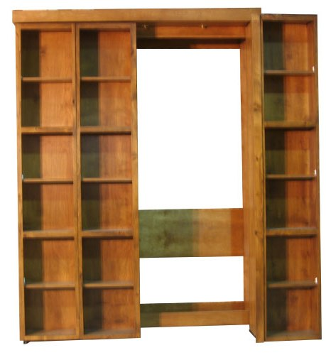 Bi Fold Bookcase Wallbed Partially Open