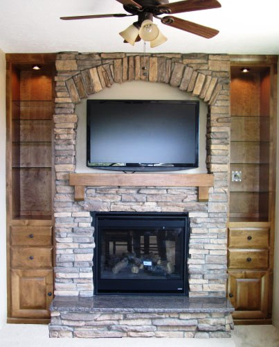 Stone Fireplace With Built In Cabinets: Custom Work Murphy Beds And Offices, Page 7