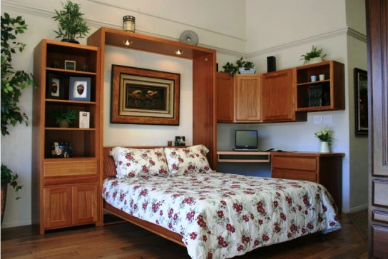 Queen Chalet Office With Wall Bed Open  E
