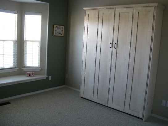 Alder Antique White Remington Murphy Bed