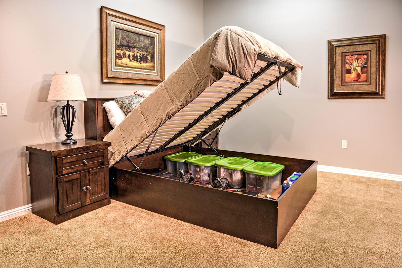 Hidden Storage Bed