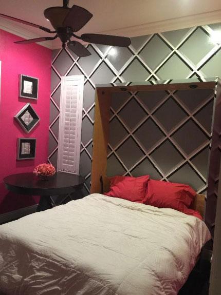 Painted DIY Murphy Bed