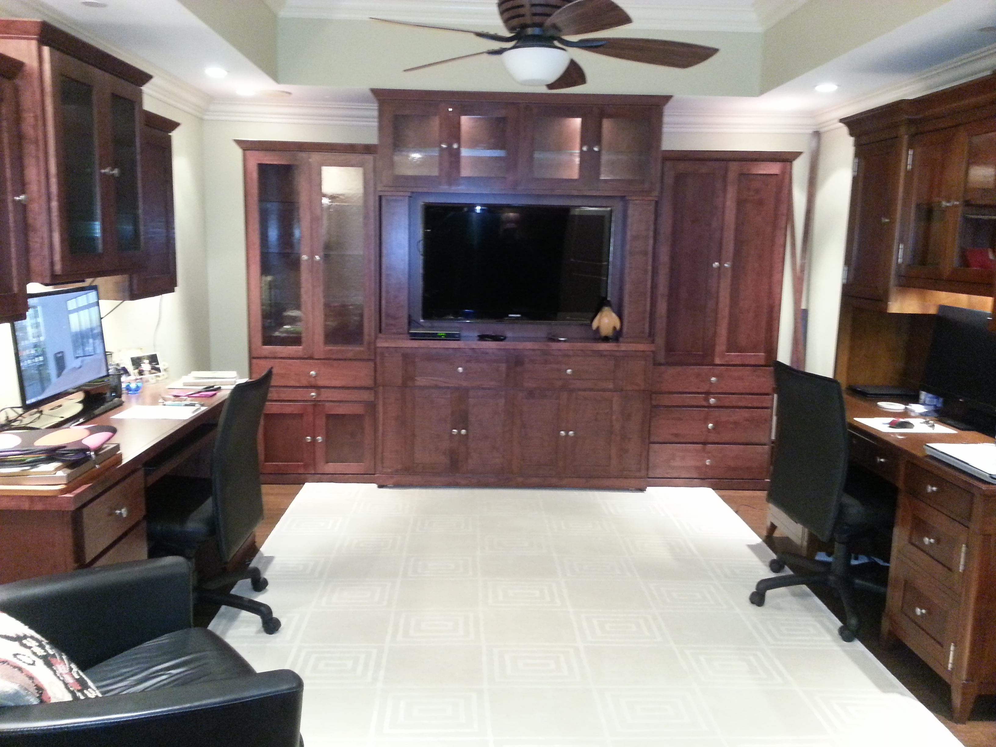 shaker style power wallbed with home office