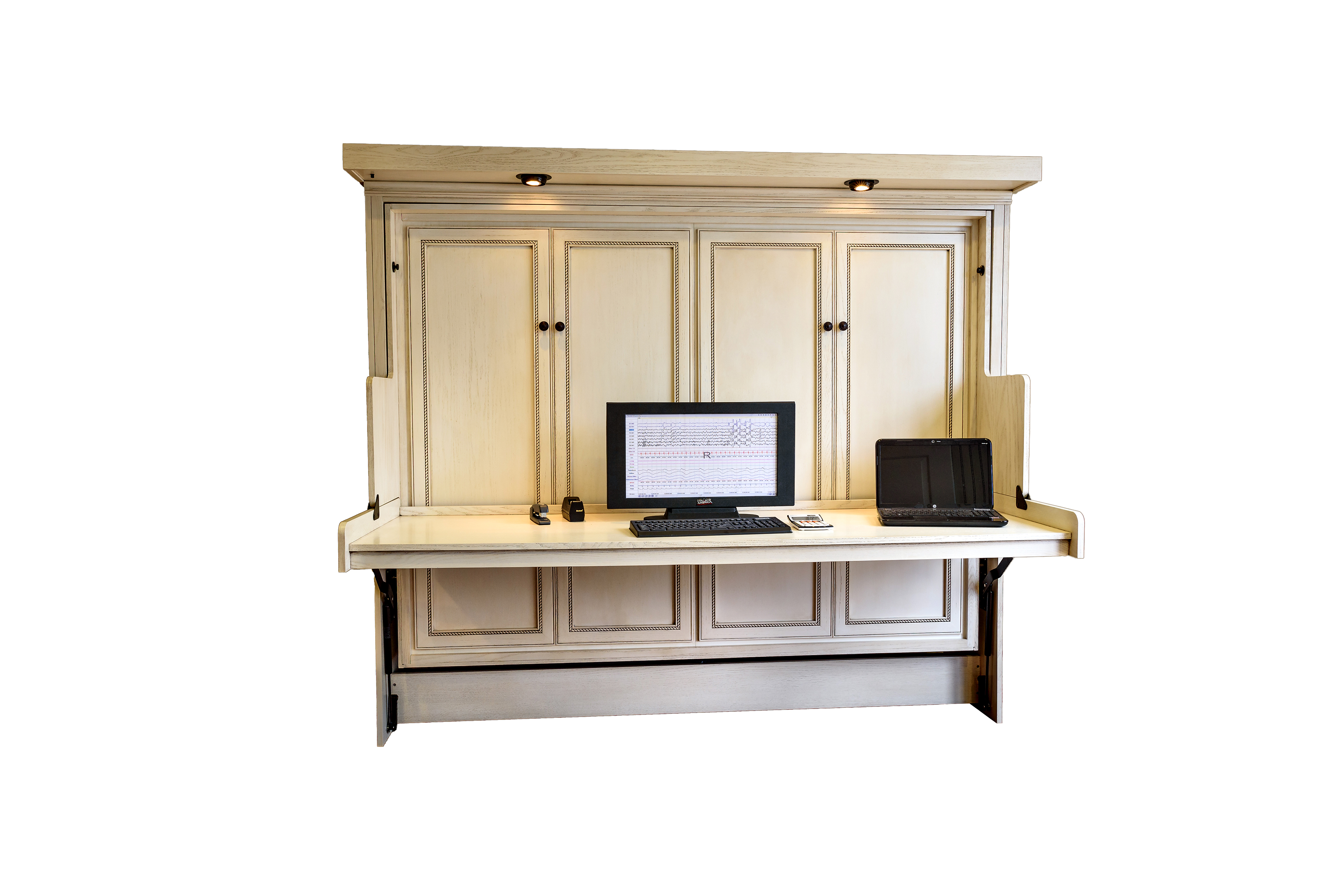 corner small desk lockable deskf mini multi techni cream hideaway solid mobili wood oak person monitor dual computer