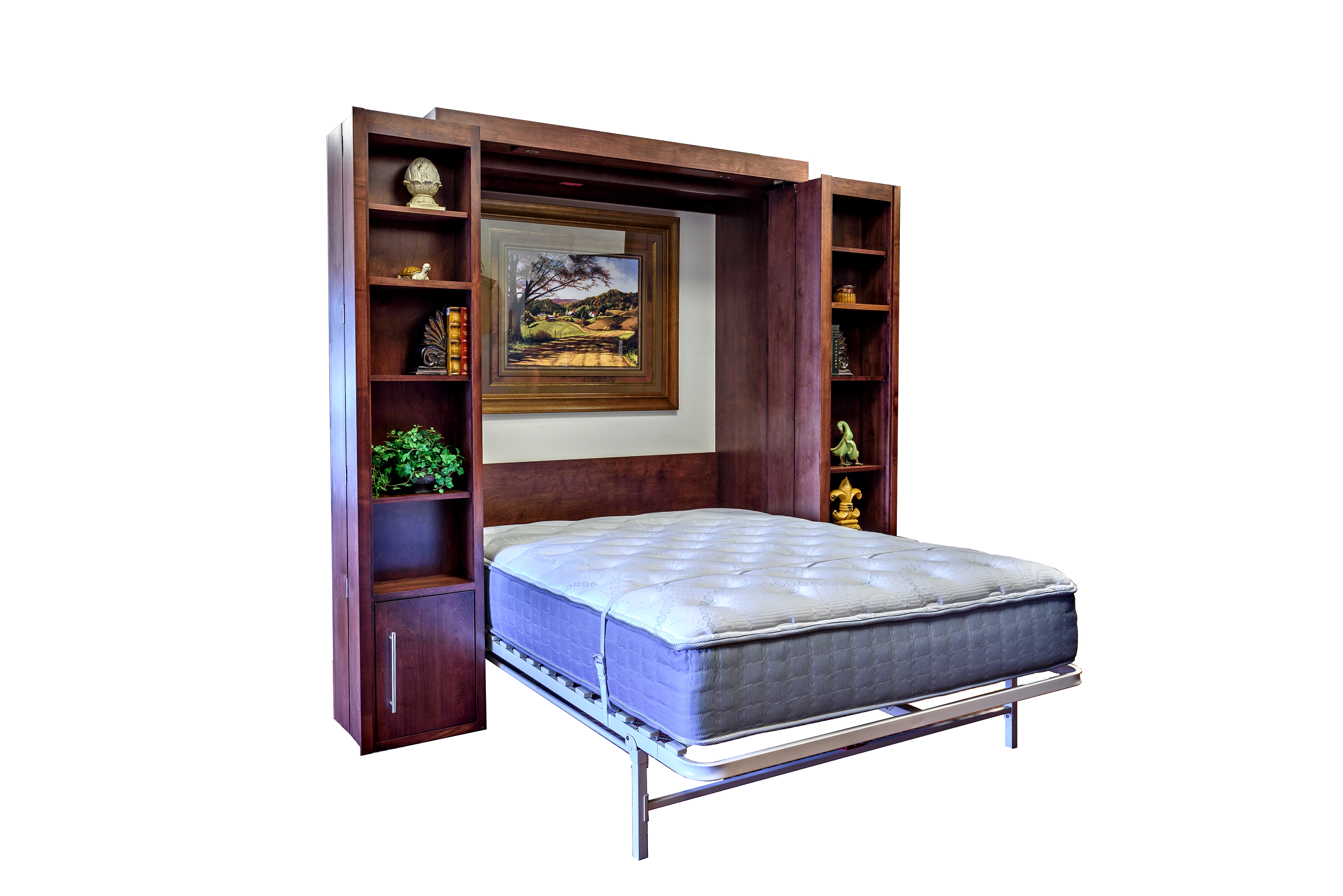 Bookcase Murphy Wall Bed | Wilding Wallbeds