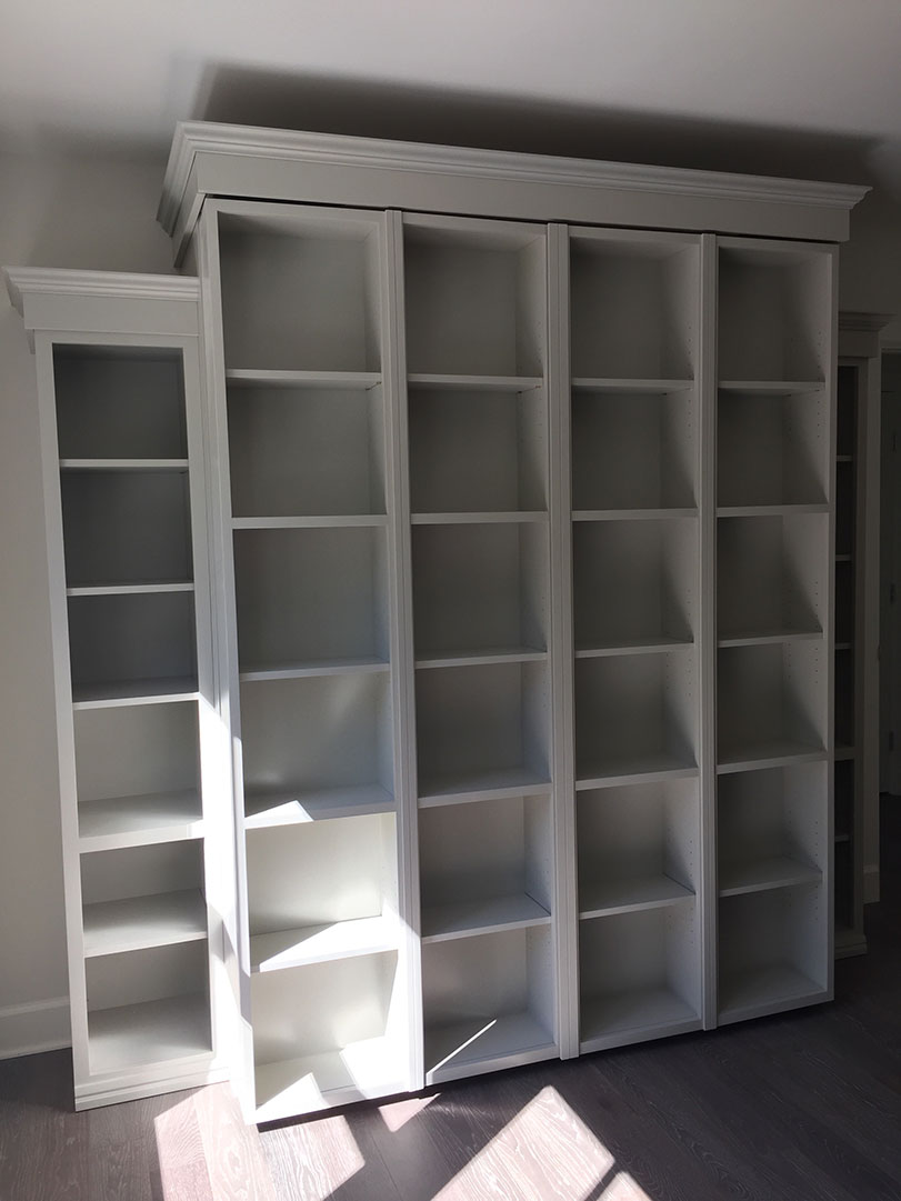 Beau Bi Fold Bookcase Wallbed In White Finish