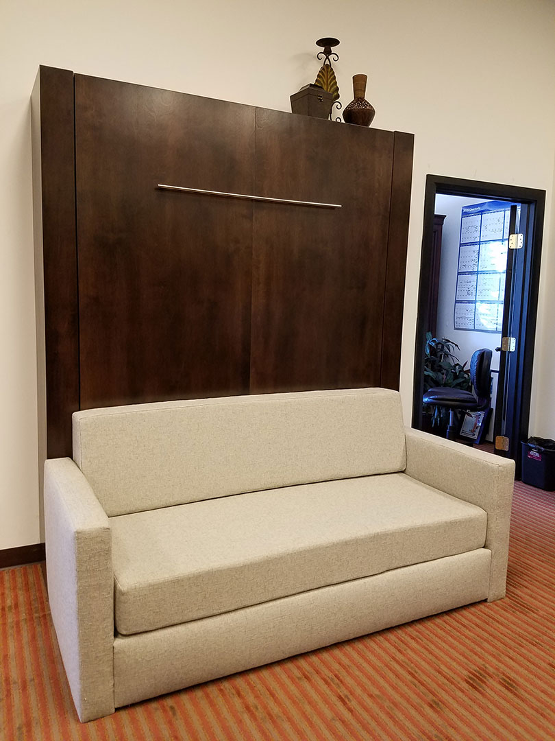 Monaco Sofa Murphy Bed / Alder Wood / Mocha Nut Finish (1/6)