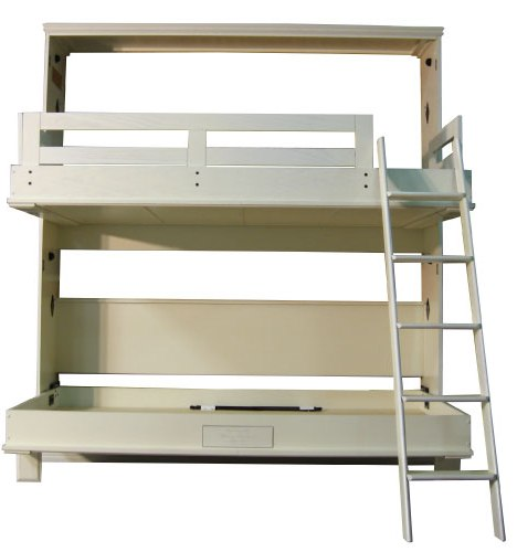 Alpine II Bunk Bed in Oak wood with Alabaster finish