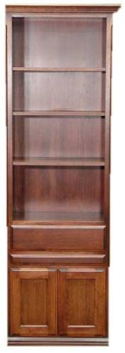 """24"""" Cherry Door & Drawer cabinet with Slide Out and Burnt Sugar finish"""