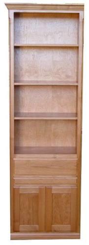 "24"" Alder Door & Drawer cabinet with Slide Out and Natural finish"