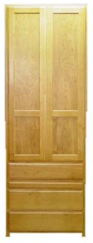 """Alder 30"""" Wardrobe with Slide Out and Natural finish"""