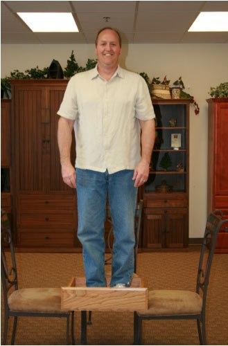 Dan standing inside Drawer Box