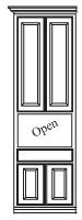 Hutch Door & Drawer Side Cabinet
