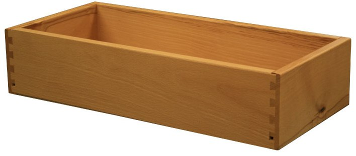 Fully dove-tailed drawer boxes for Wilding's Side Cabinets