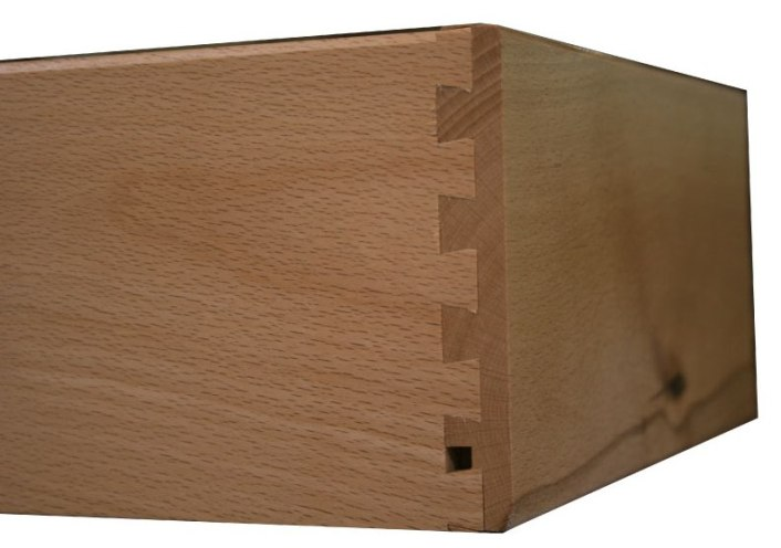 Fully dove-tailed drawer boxes for Wilding Side Cabinets