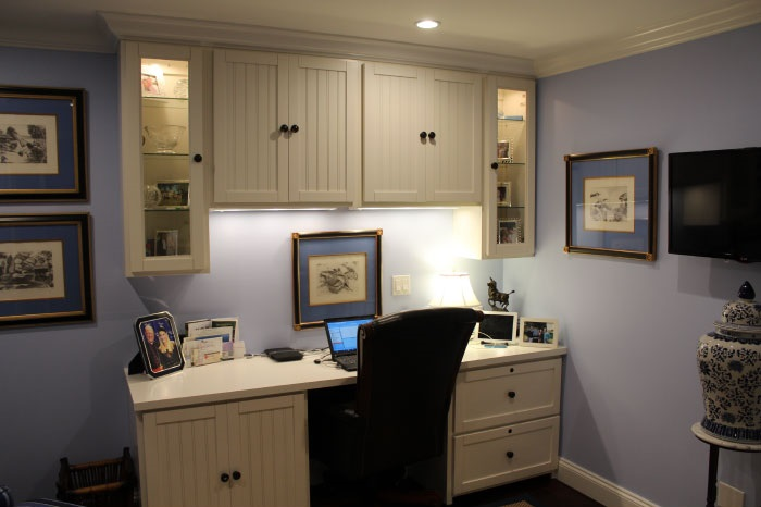 home office with murphy bed. Hampton Style Home Office With Murphy Bed