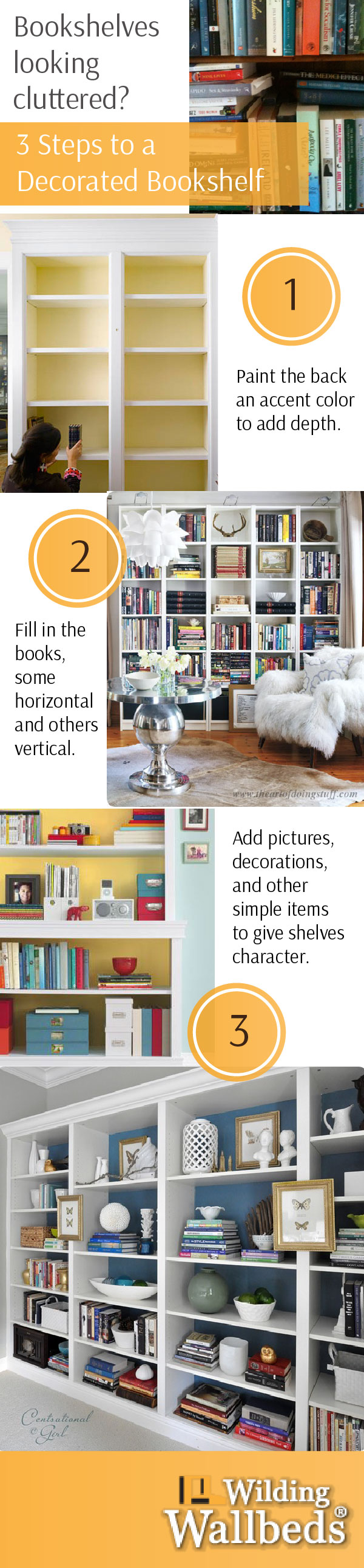 3 Steps to a Decorated Bookshelf