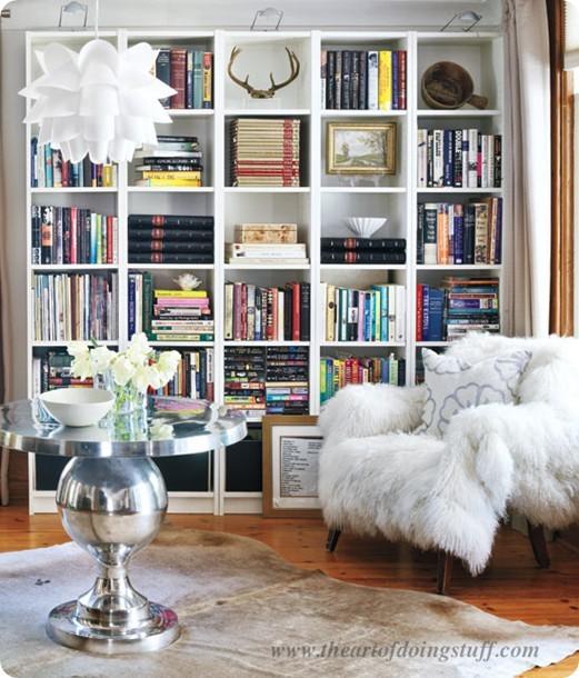 Nicely Arranged Bookshelves