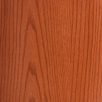 Crimson Spray finish on Oak Wood