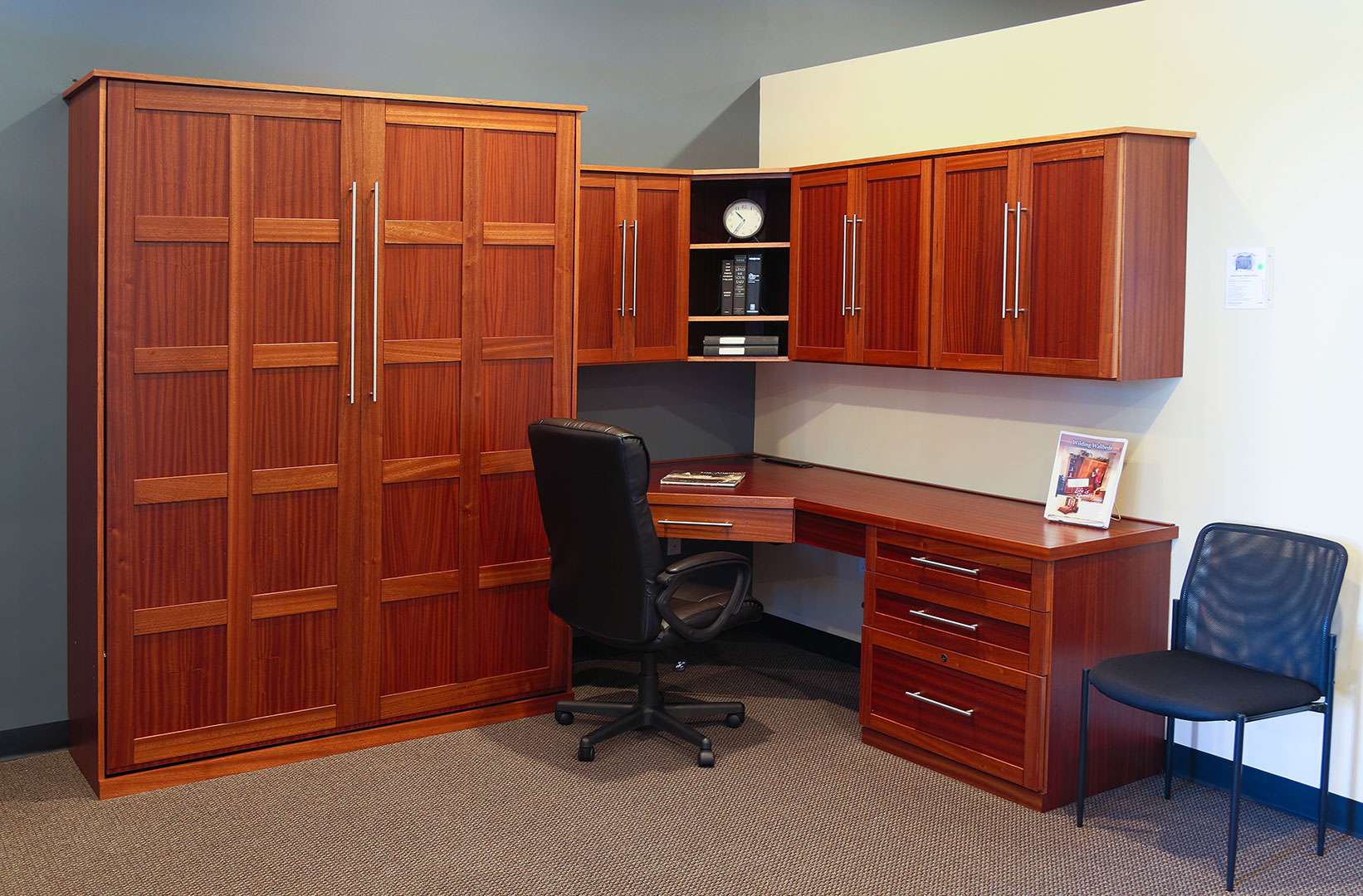Manhattan style home office with Scape style handles