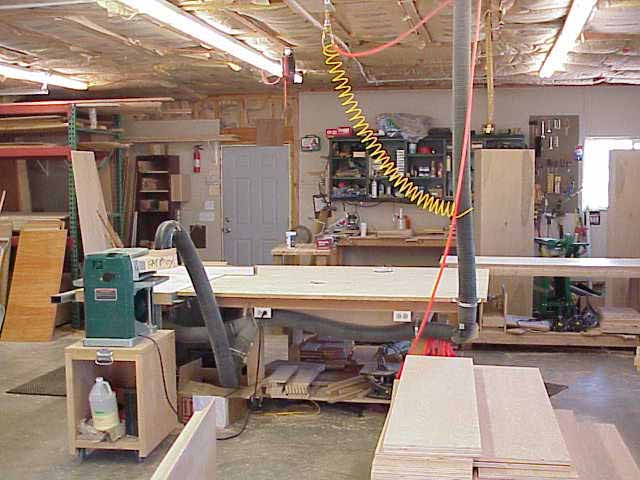 Custom wood shop where the first Wilding Wallbeds were made