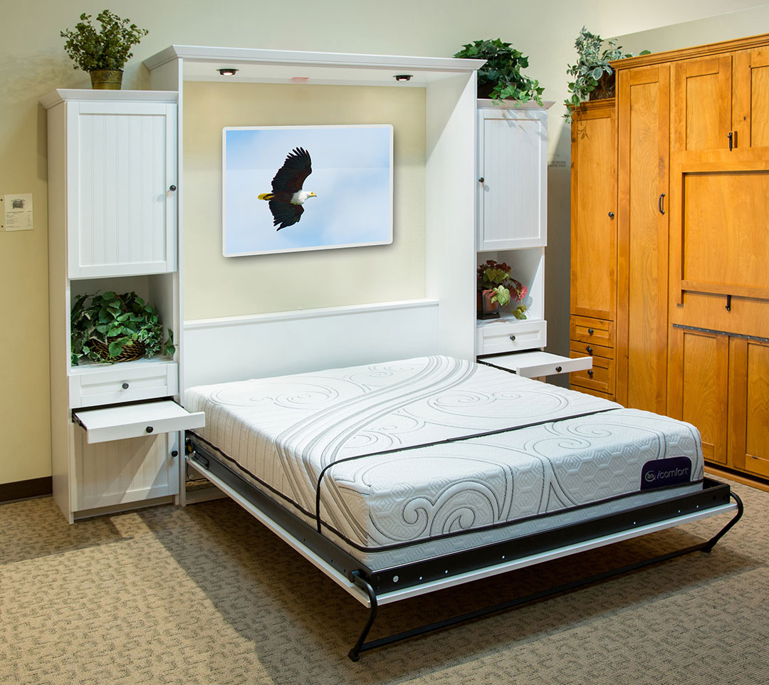Lincoln Place Murphy Bed with White finish