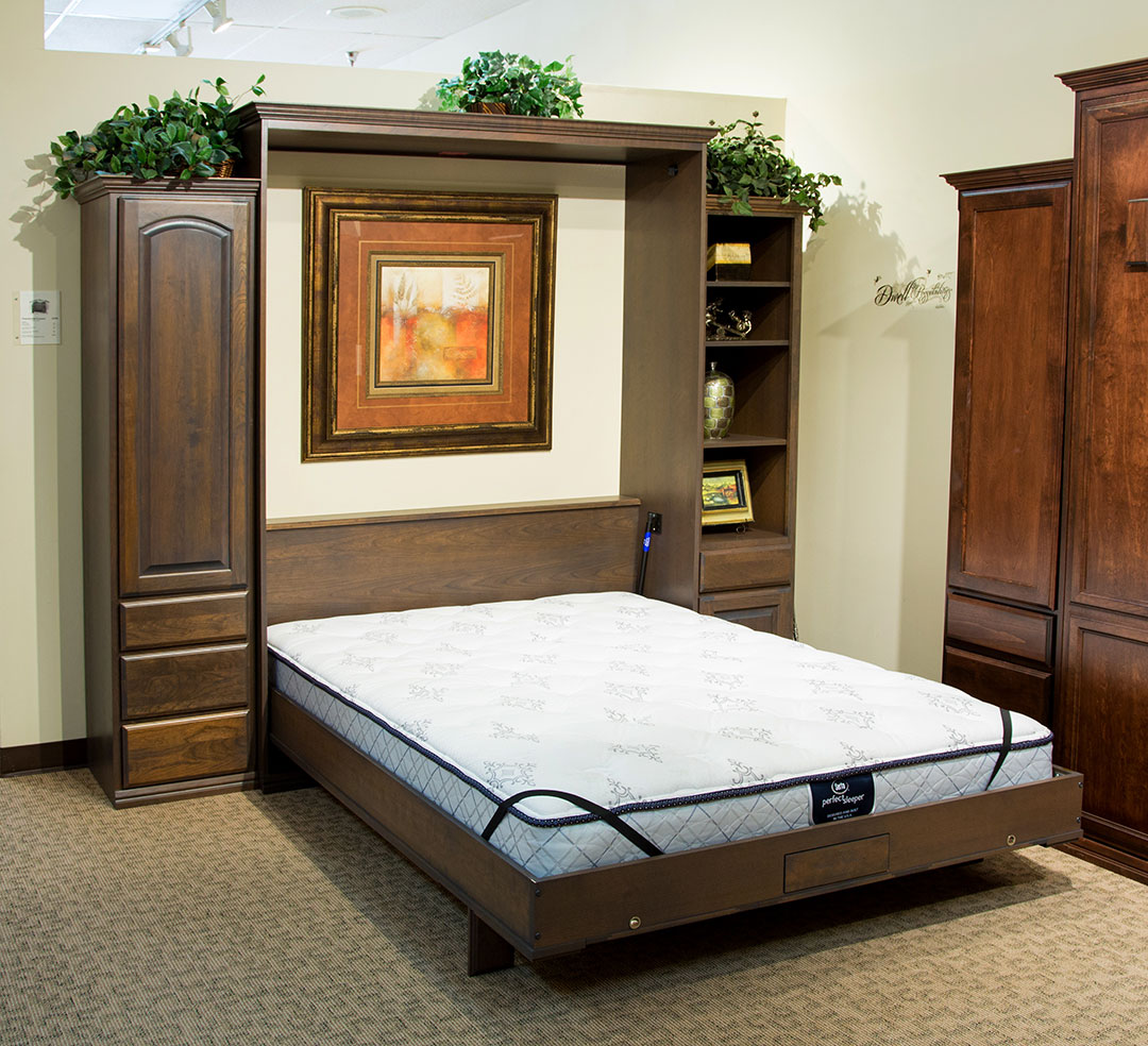 Presidential II Wallbed in Cherry wood with Mocha Nut finish