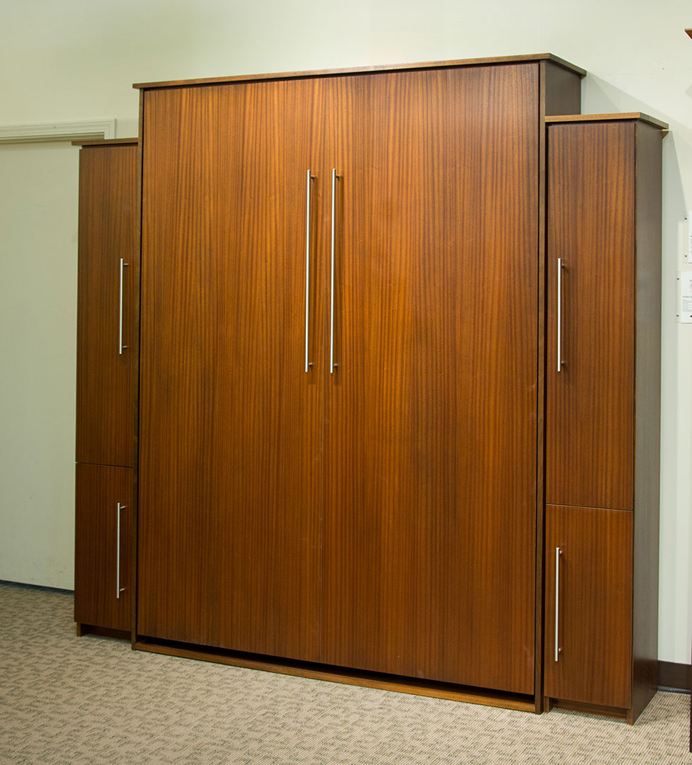 Scape Murphy Bed in Mahogany wood with Natural finish with Black Glaze