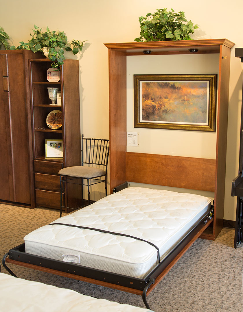 Woodbury Park Murphy Bed in Alder wood with Sunset Bay finish