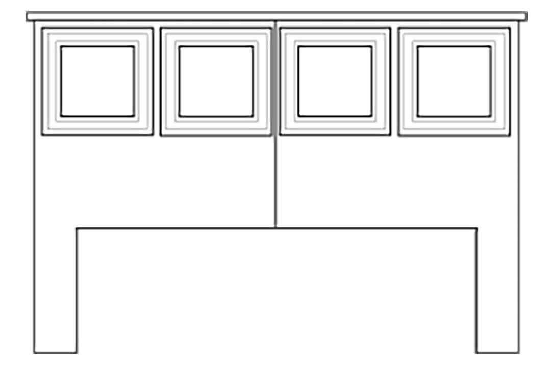 Storage Bed Standard Headboard
