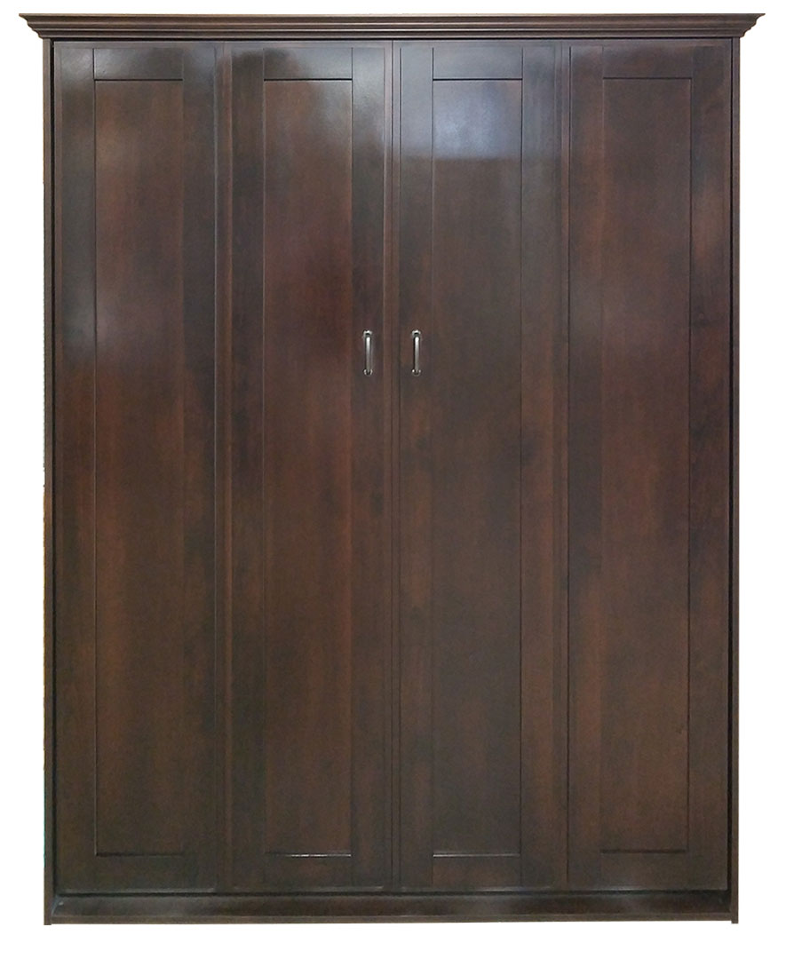 Remington style Murphy Bed in Alder wood with Autumn Haze finish