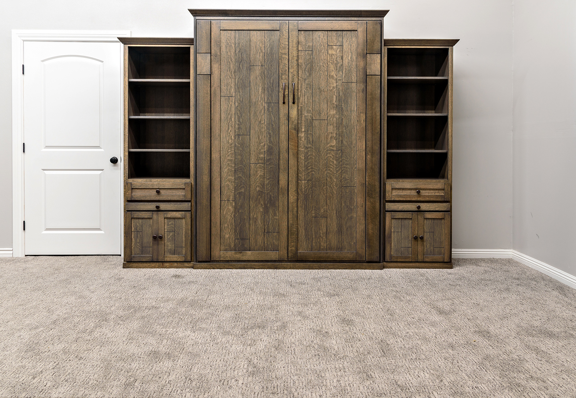 Cape Cod style Wallbed in Driftwood finish