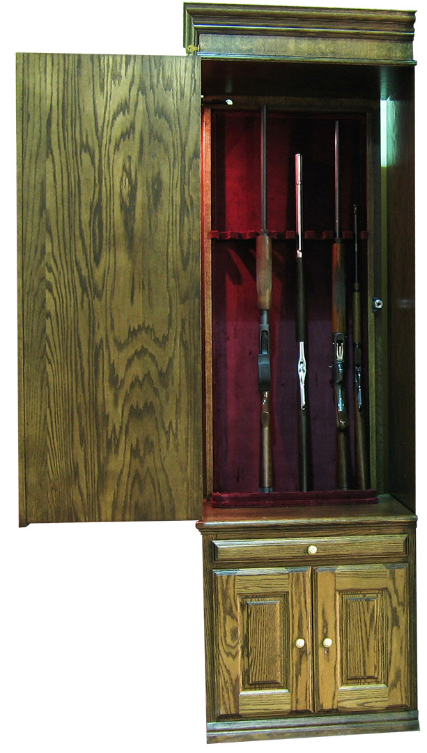 Hidden Gun Cabinet Open