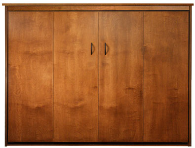 Queen Size Dakota Murphy Bed in Alder with Autumn Haze