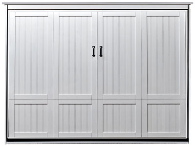 Queen Size Newport Murphy Bed in Paint Grade Wood in White Finish