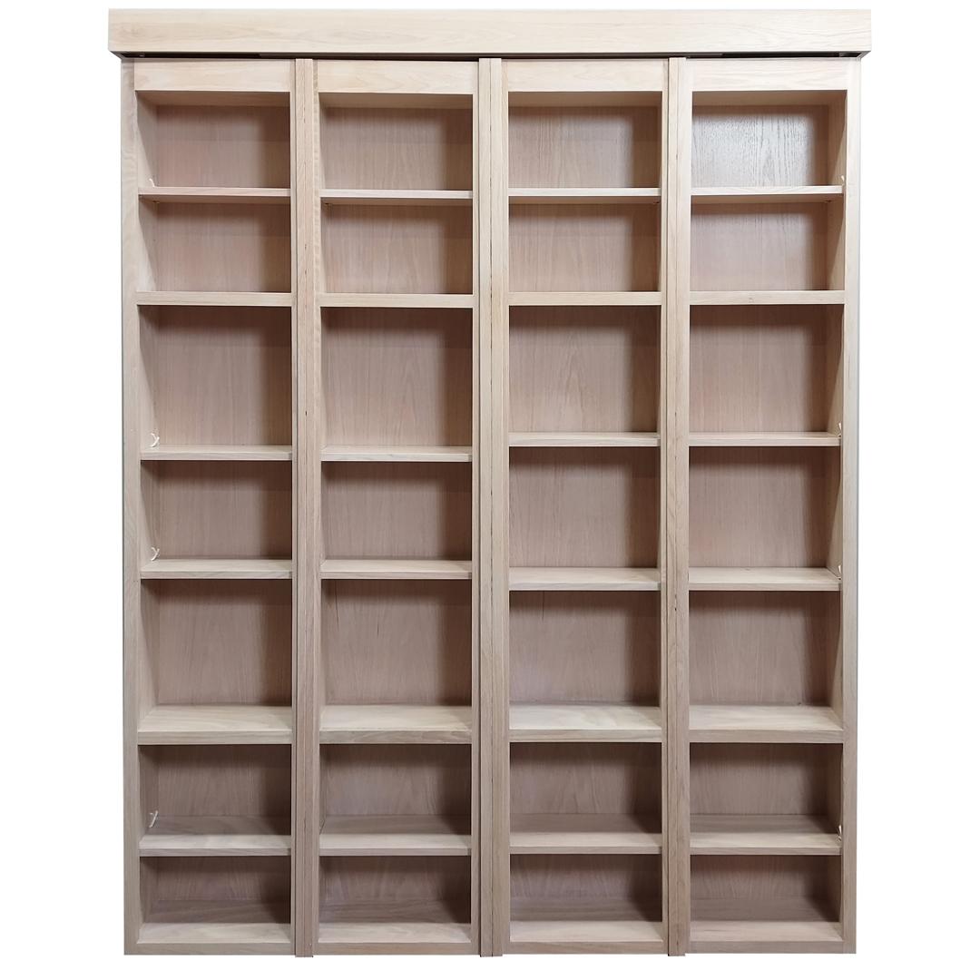 Bi-fold Bookcase Wallbed in Oak wood